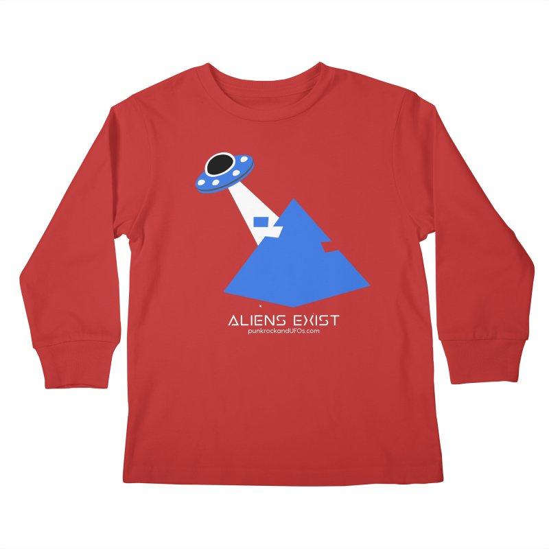 Aliens Exist 2 Kids Longsleeve T-Shirt by punkrockandufos's Artist Shop