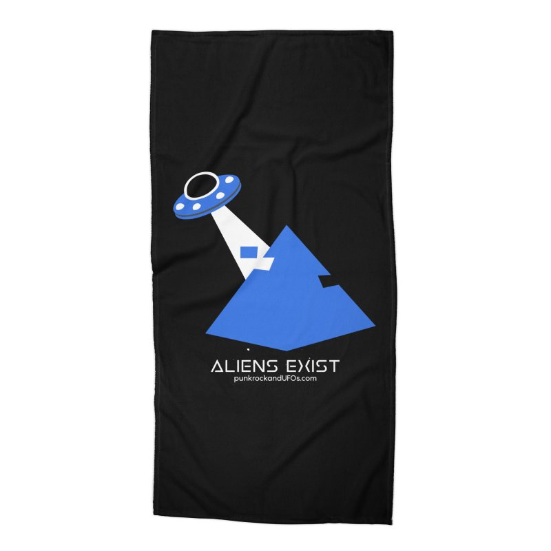 Aliens Exist 2 Accessories Beach Towel by punkrockandufos's Artist Shop