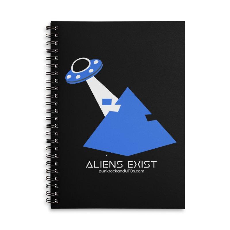 Aliens Exist 2 Accessories Lined Spiral Notebook by punkrockandufos's Artist Shop