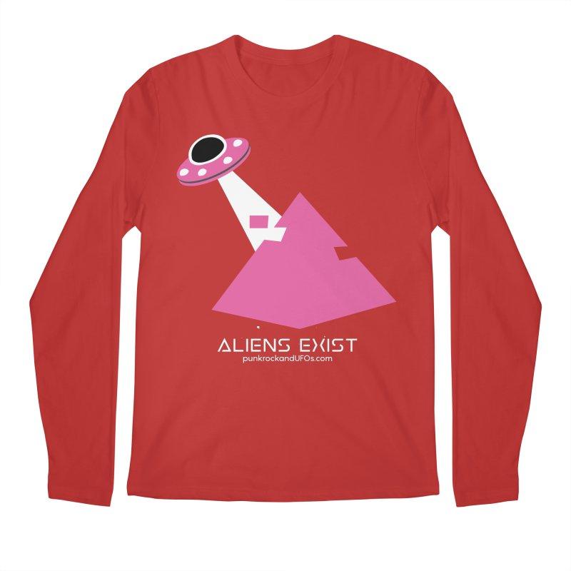 Aliens Exist Men's Regular Longsleeve T-Shirt by punkrockandufos's Artist Shop