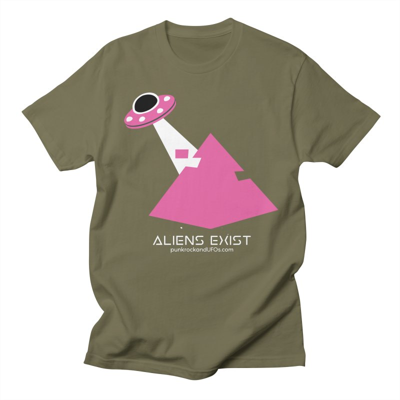 Aliens Exist Men's T-Shirt by punkrockandufos's Artist Shop