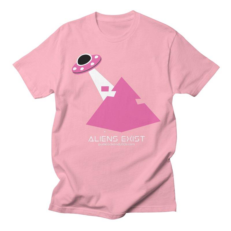 Aliens Exist Men's Regular T-Shirt by punkrockandufos's Artist Shop