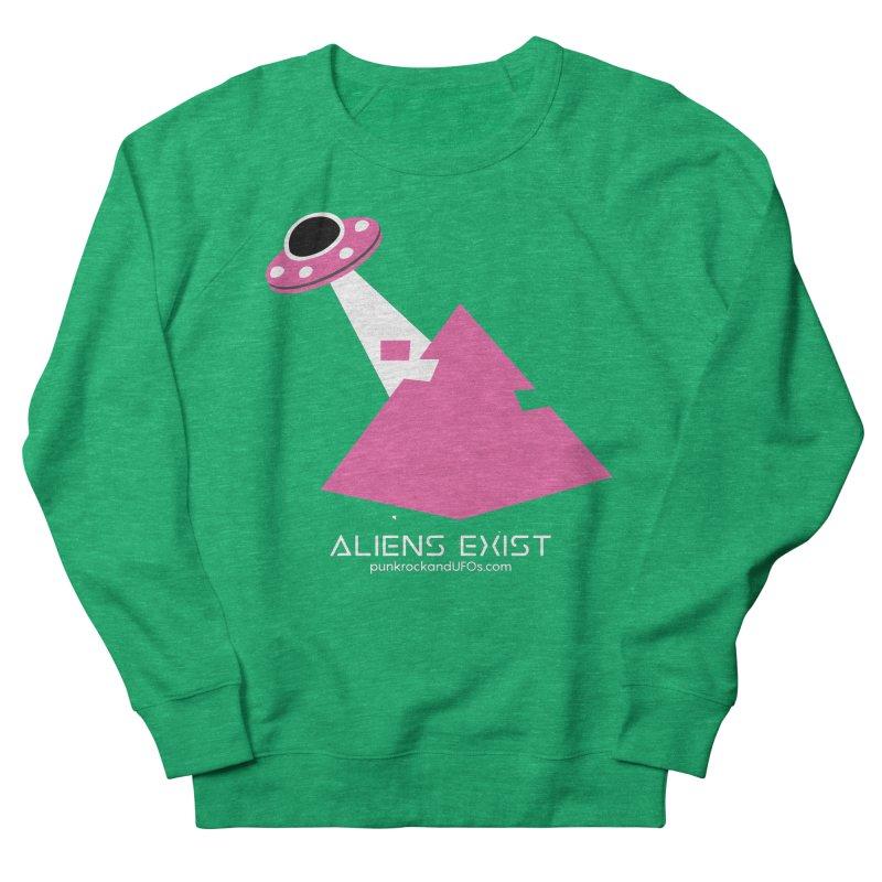 Aliens Exist Men's French Terry Sweatshirt by punkrockandufos's Artist Shop