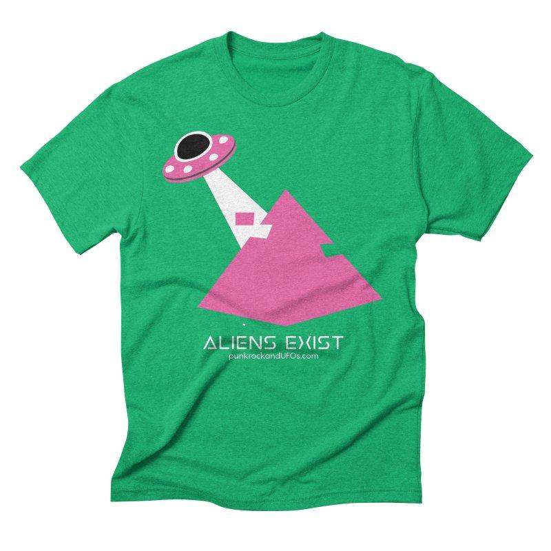 Aliens Exist Men's Triblend T-Shirt by punkrockandufos's Artist Shop
