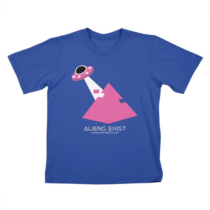 Aliens Exist Kids T-Shirt by punkrockandufos's Artist Shop