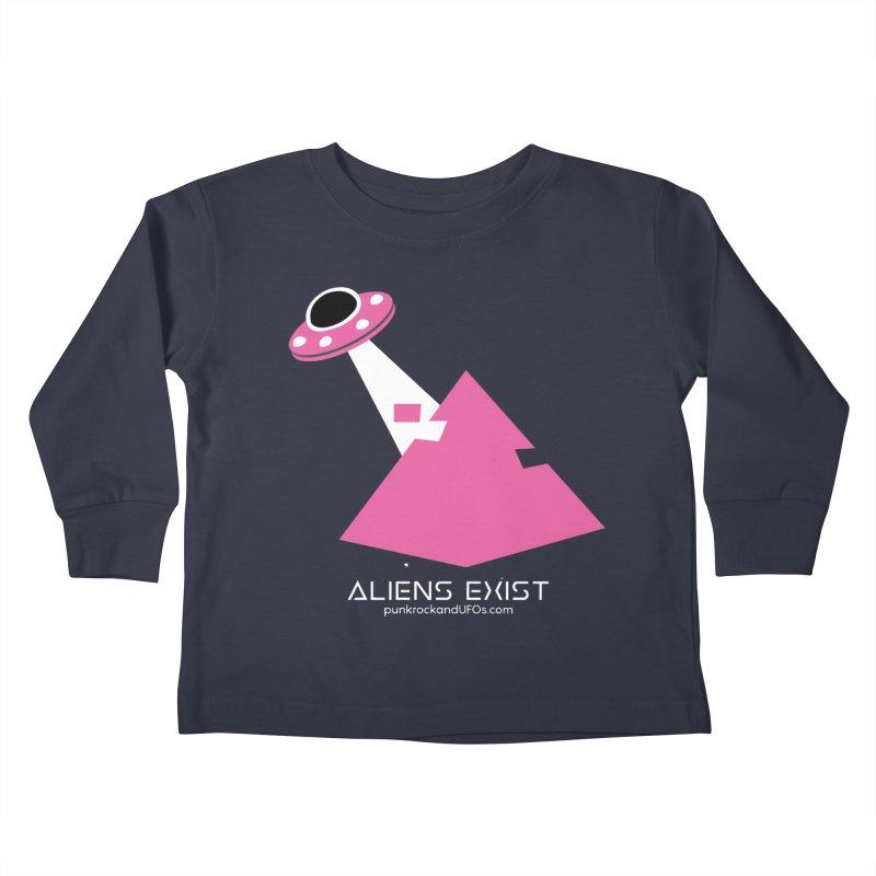 Aliens Exist Kids Toddler Longsleeve T-Shirt by punkrockandufos's Artist Shop
