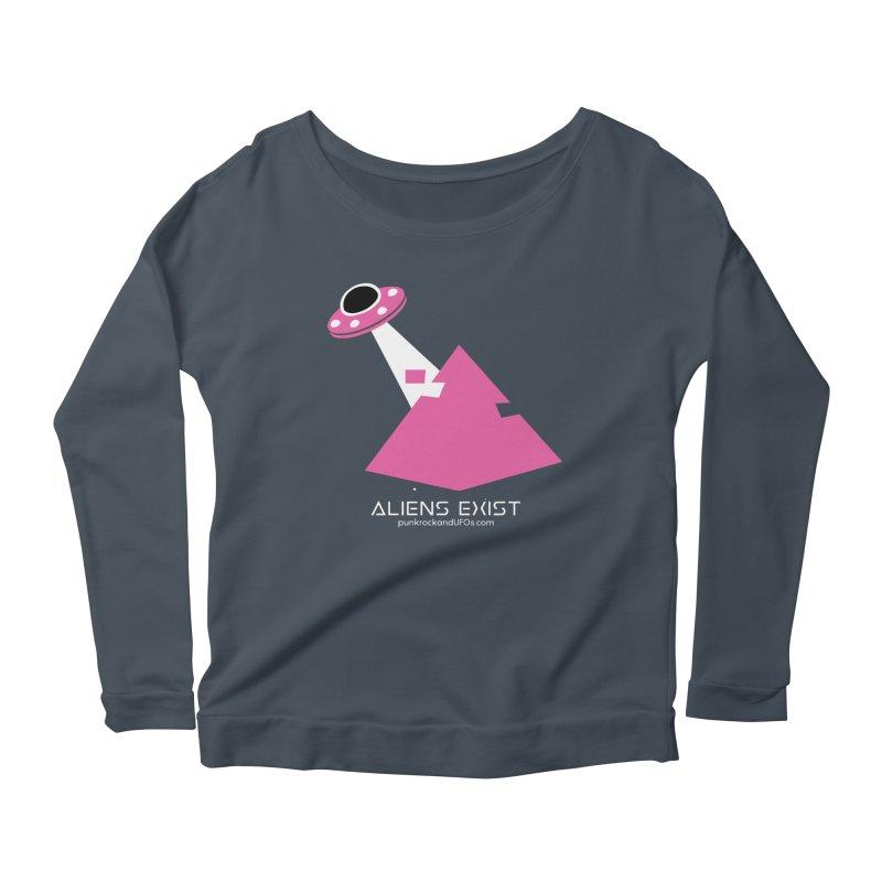Aliens Exist Women's Scoop Neck Longsleeve T-Shirt by punkrockandufos's Artist Shop