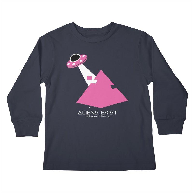 Aliens Exist Kids Longsleeve T-Shirt by punkrockandufos's Artist Shop