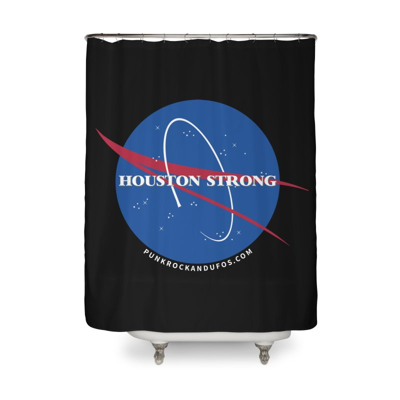 Houston Relief shirt  Home Shower Curtain by punkrockandufos's Artist Shop
