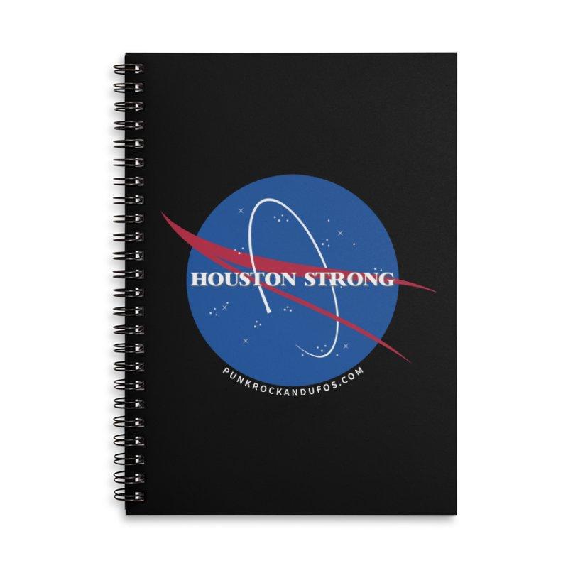 Houston Relief shirt  Accessories Lined Spiral Notebook by punkrockandufos's Artist Shop