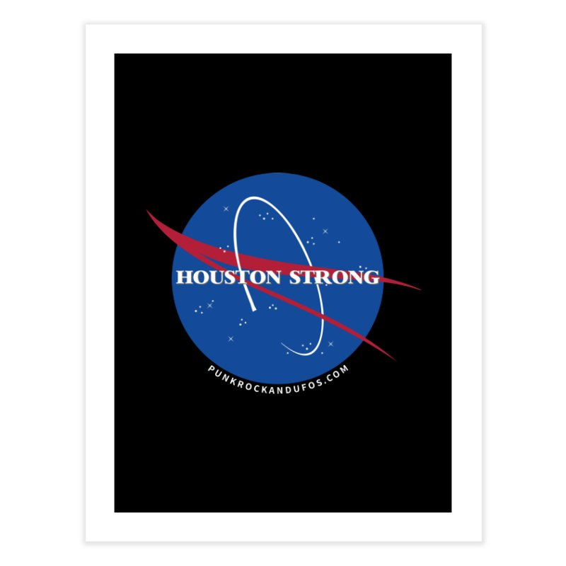 Houston Relief shirt  Home Fine Art Print by punkrockandufos's Artist Shop