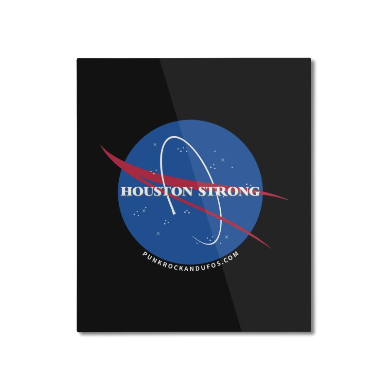 Houston Relief shirt  Home Mounted Aluminum Print by punkrockandufos's Artist Shop