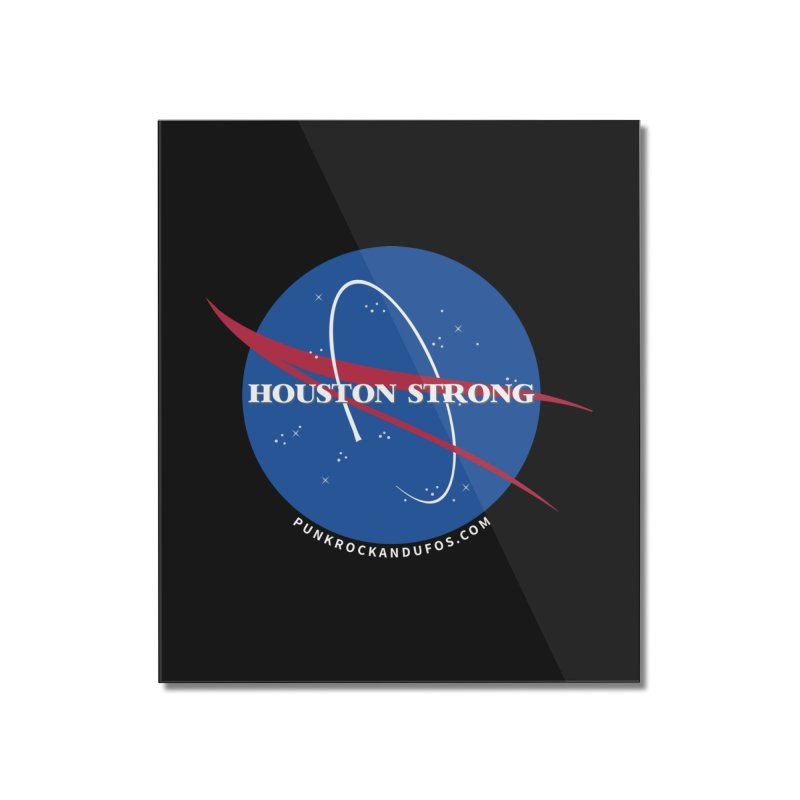 Houston Relief shirt  Home Mounted Acrylic Print by punkrockandufos's Artist Shop