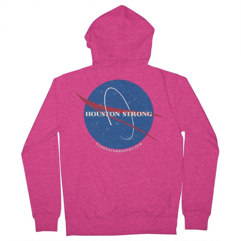 Houston Relief shirt  Women's French Terry Zip-Up Hoody by punkrockandufos's Artist Shop