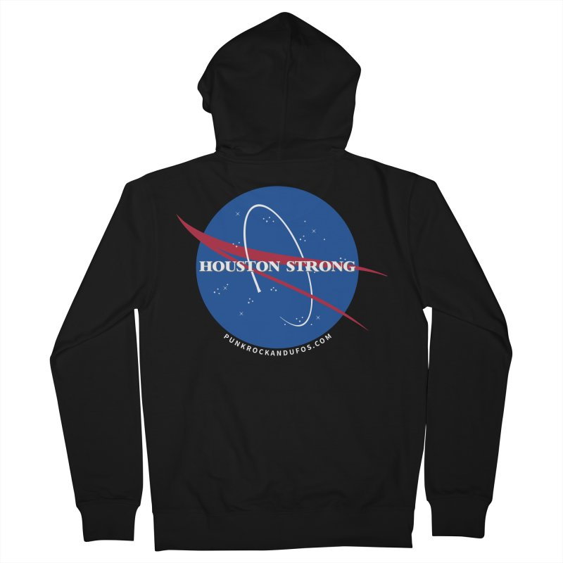 Houston Relief shirt  Women's French Terry Zip-Up Hoody by punkrockandufos's Artist Shop