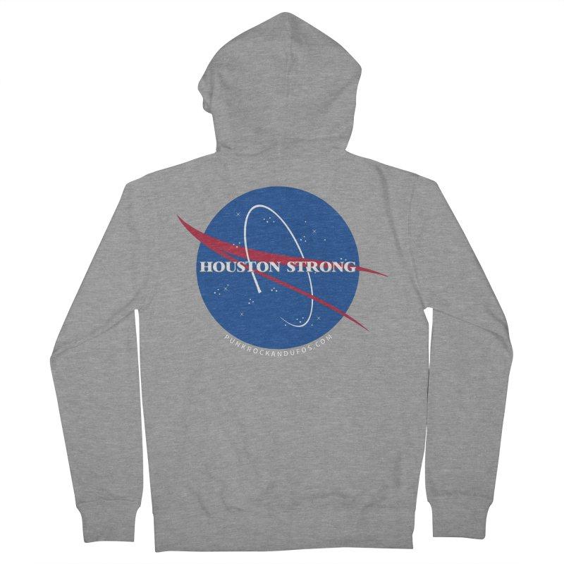 Houston Relief shirt  Men's French Terry Zip-Up Hoody by punkrockandufos's Artist Shop