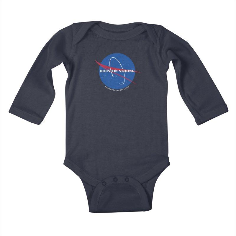 Houston Relief shirt  Kids Baby Longsleeve Bodysuit by punkrockandufos's Artist Shop