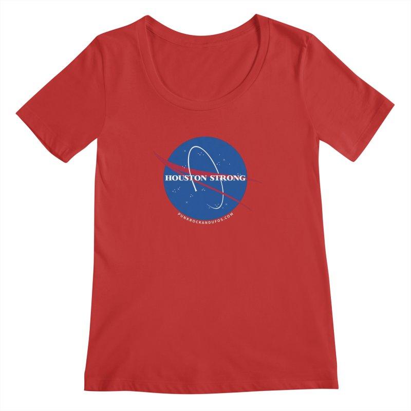 Houston Relief shirt  Women's Regular Scoop Neck by punkrockandufos's Artist Shop