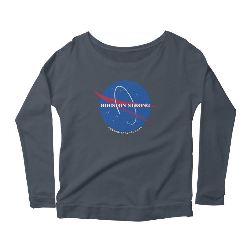 Houston Relief shirt  Women's Scoop Neck Longsleeve T-Shirt by punkrockandufos's Artist Shop