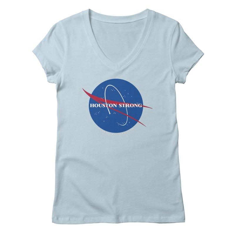 Houston Relief shirt  Women's Regular V-Neck by punkrockandufos's Artist Shop