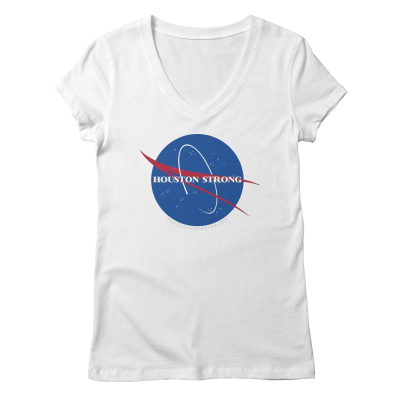 Houston Relief shirt  Women's Regular V-Neck by punkrockandufos's Artist Shop