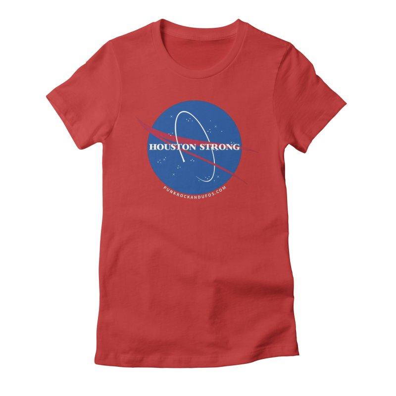 Houston Relief shirt  Women's Fitted T-Shirt by punkrockandufos's Artist Shop