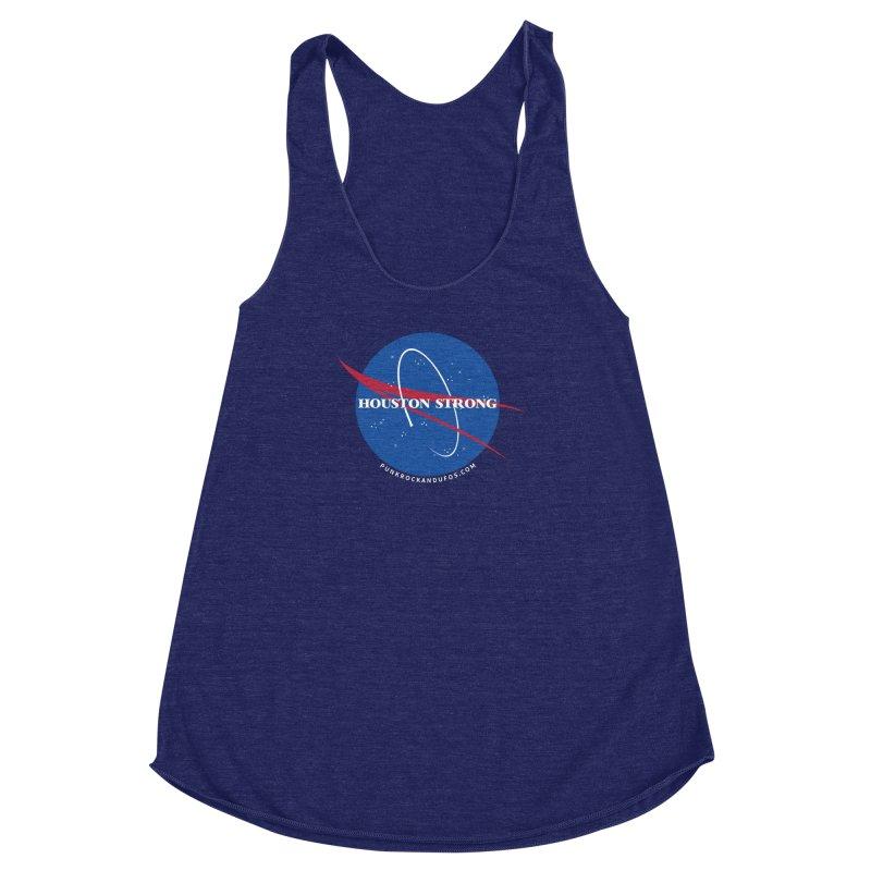 Houston Relief shirt  Women's Racerback Triblend Tank by punkrockandufos's Artist Shop