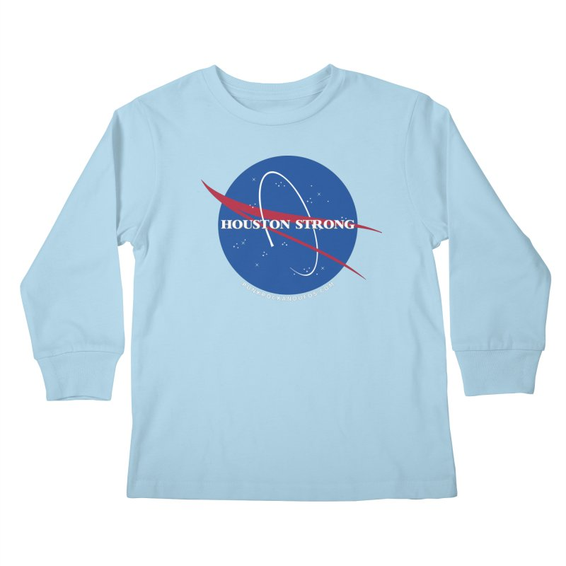 Houston Relief shirt  Kids Longsleeve T-Shirt by punkrockandufos's Artist Shop