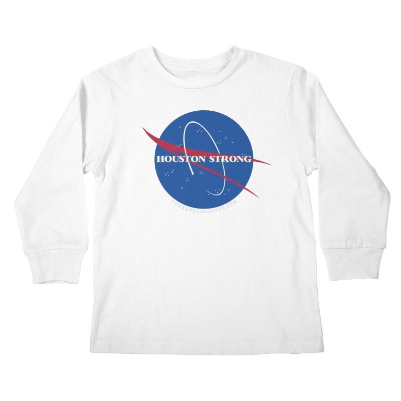 Houston Relief shirt  Kids Longsleeve T-Shirt by punkrockandufos's Artist Shop