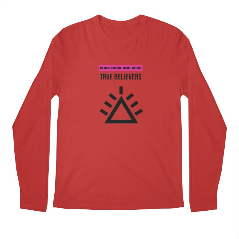 True Believers Men's Regular Longsleeve T-Shirt by punkrockandufos's Artist Shop