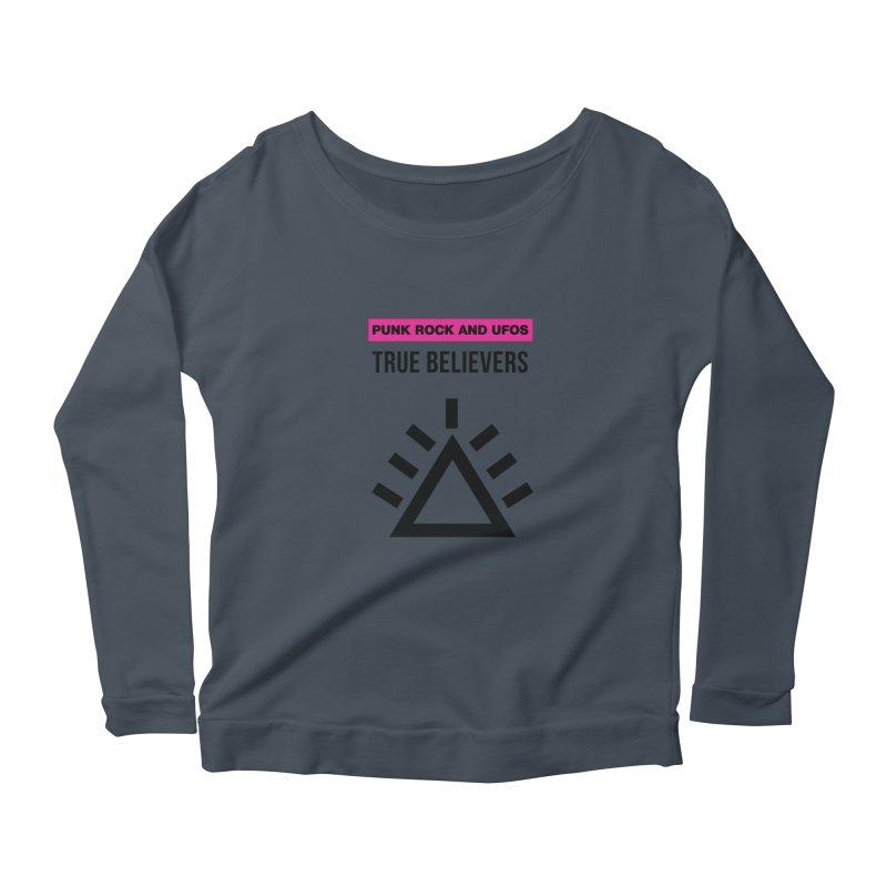 True Believers Women's Scoop Neck Longsleeve T-Shirt by punkrockandufos's Artist Shop