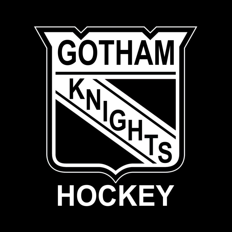 Gotham Knights Hockey Home Bath Mat by punkrockandufos's Artist Shop