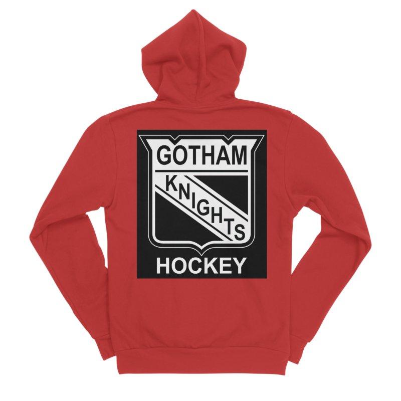 Gotham Knights Hockey Men's Zip-Up Hoody by punkrockandufos's Artist Shop