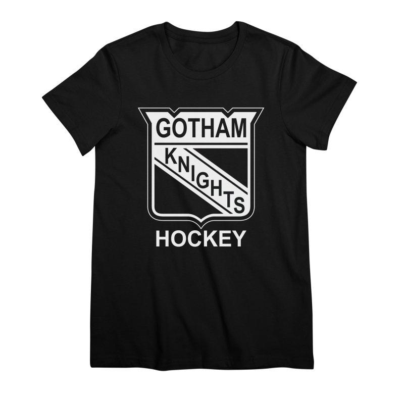 Gotham Knights Hockey Women's Premium T-Shirt by punkrockandufos's Artist Shop