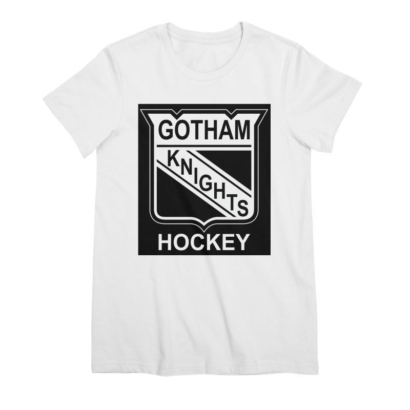 Gotham Knights Hockey Women's Premium T-Shirt by punkrockandufos's Artist Shop