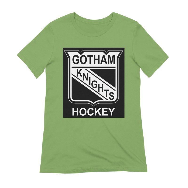 Gotham Knights Hockey Women's Extra Soft T-Shirt by punkrockandufos's Artist Shop