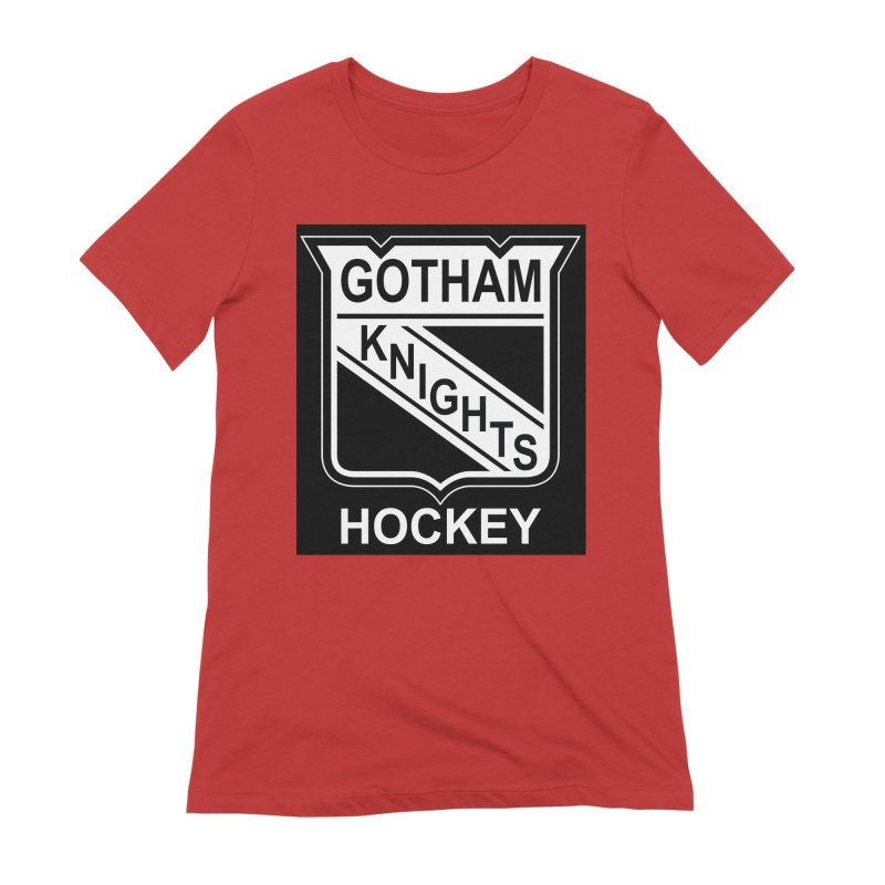 Gotham Knights Hockey Women's Extra Soft T-Shirt by punkrockandufos's Artist Shop