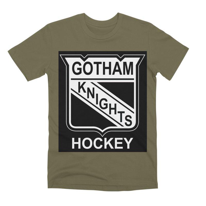 Gotham Knights Hockey Men's Premium T-Shirt by punkrockandufos's Artist Shop