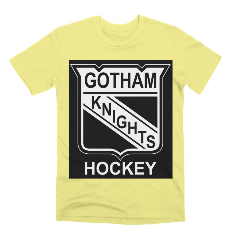 Gotham Knights Hockey Men's Premium T-Shirt by punkrockandufos's Artist Shop