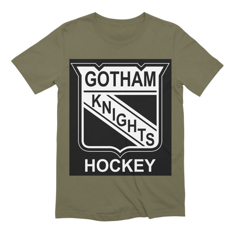 Gotham Knights Hockey Men's Extra Soft T-Shirt by punkrockandufos's Artist Shop