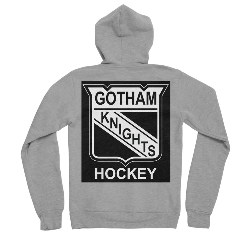 Gotham Knights Hockey Men's Sponge Fleece Zip-Up Hoody by punkrockandufos's Artist Shop