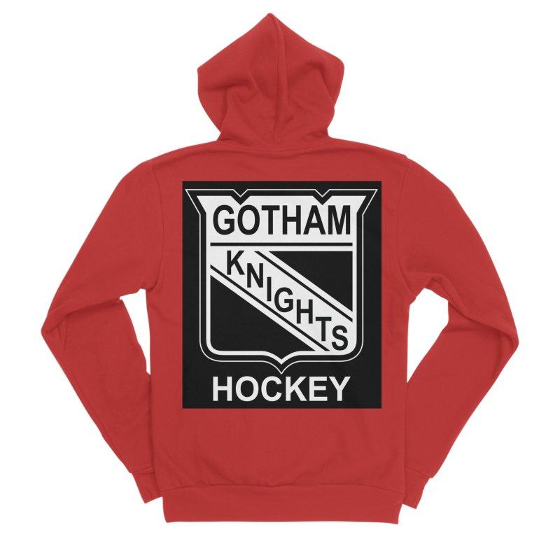 Gotham Knights Hockey Women's Sponge Fleece Zip-Up Hoody by punkrockandufos's Artist Shop