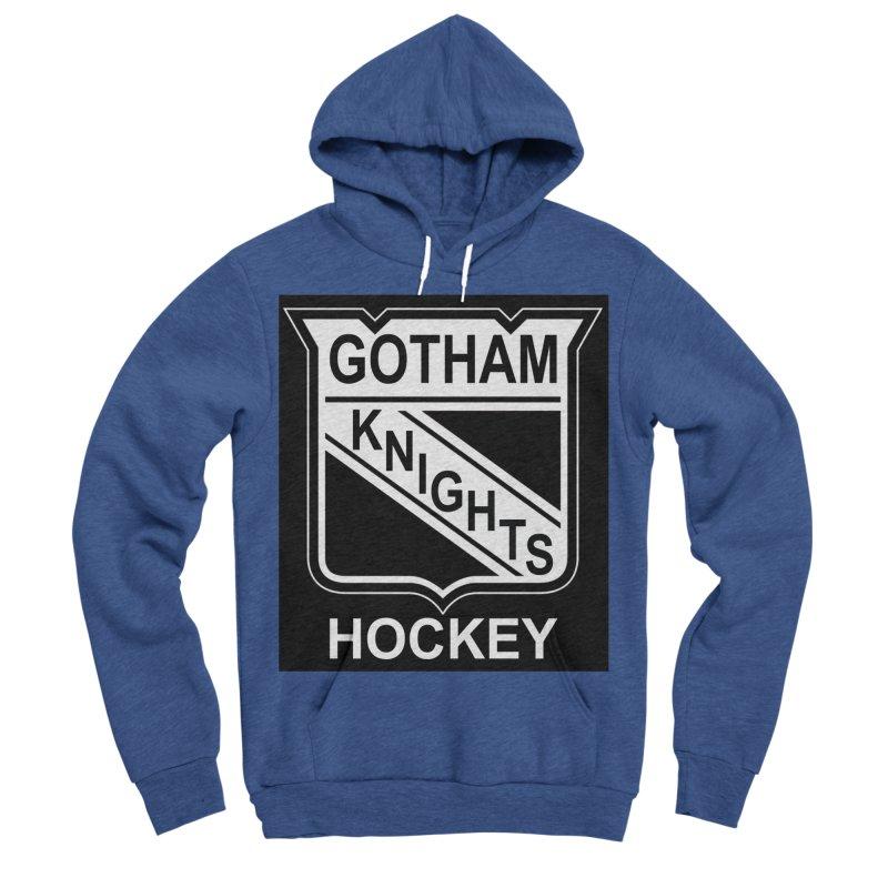 Gotham Knights Hockey Men's Sponge Fleece Pullover Hoody by punkrockandufos's Artist Shop