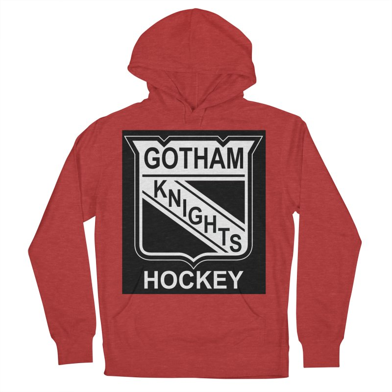 Gotham Knights Hockey Women's French Terry Pullover Hoody by punkrockandufos's Artist Shop