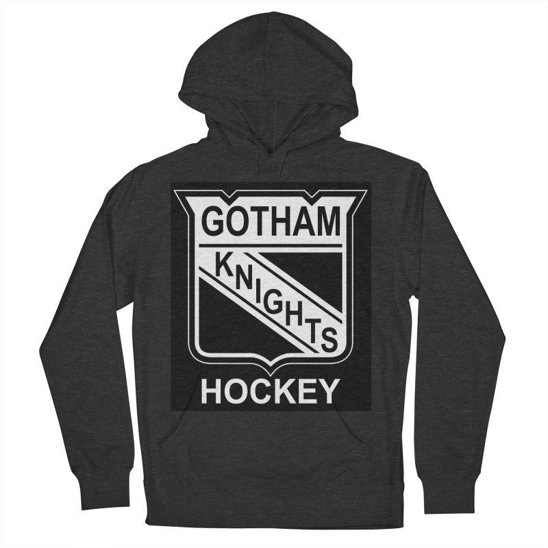 Gotham Knights Hockey Men's French Terry Pullover Hoody by punkrockandufos's Artist Shop