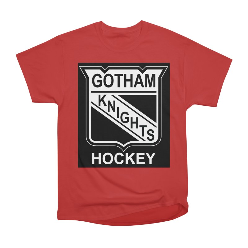 Gotham Knights Hockey Men's Heavyweight T-Shirt by punkrockandufos's Artist Shop