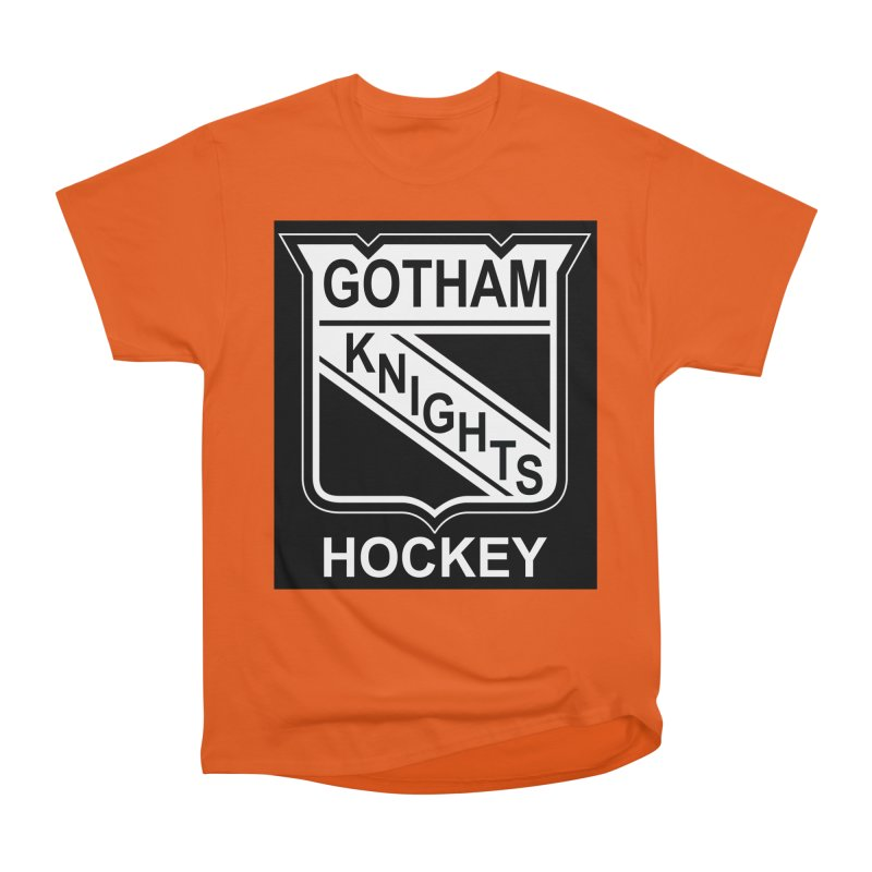 Gotham Knights Hockey Women's Heavyweight Unisex T-Shirt by punkrockandufos's Artist Shop