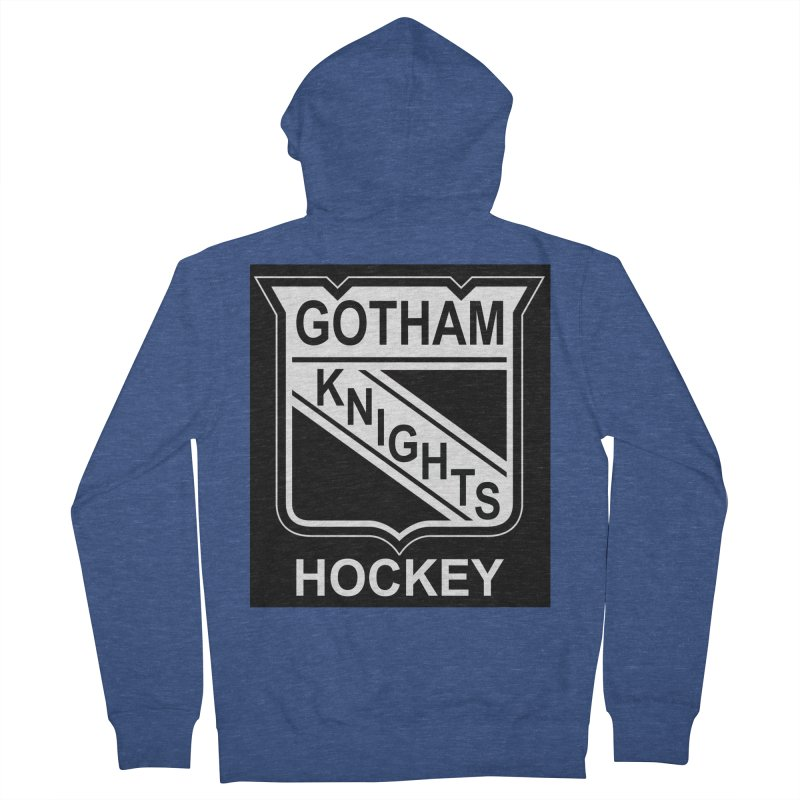Gotham Knights Hockey Women's French Terry Zip-Up Hoody by punkrockandufos's Artist Shop