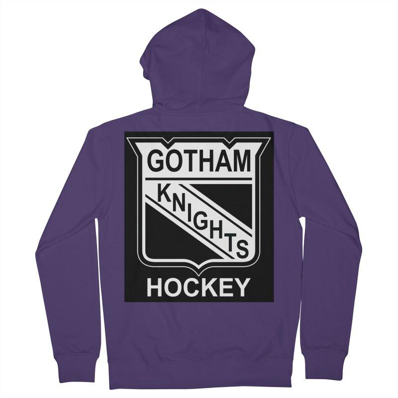 Gotham Knights Hockey Women's French Terry Zip-Up Hoody by punkrockandufos's Artist Shop
