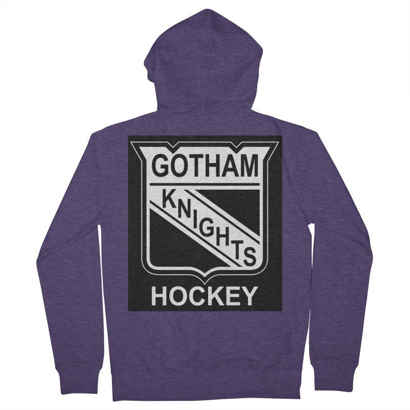 Gotham Knights Hockey Men's French Terry Zip-Up Hoody by punkrockandufos's Artist Shop